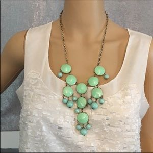 J. Crew green and blue necklace